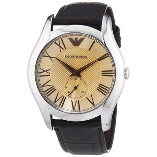 Emporio Armani Men's AR1704 'Classic' Brown Leather Watch