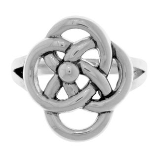 Carolina Glamour Collection Silverplated Bronze Celtic Knot Five Fold Symbol Ring