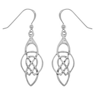 Sterling Silver Celtic Infinity Knot Dangle Earrings