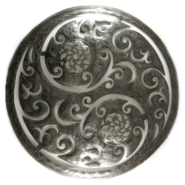 Shop Handcrafted Recycled Steel Drum Large Yin Yang Metal Wall Art ...
