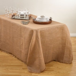 Fringed Burlap Design Tablecloths. (5 options available)