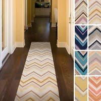 Colle Flatweave Chevron Runner Rug