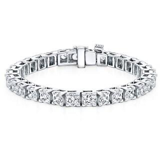 Auriya 18k Gold 16ct TDW Round Diamond Tennis Bracelet (J-K, VS1-VS2)