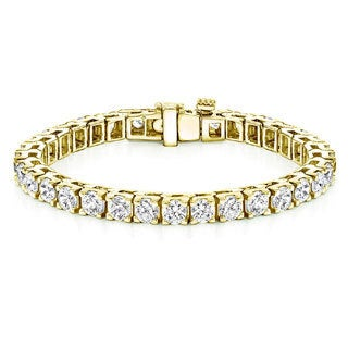 Auriya 18k Gold 16ct TDW Round Diamond Tennis Bracelet (J-K, VS1-VS2)