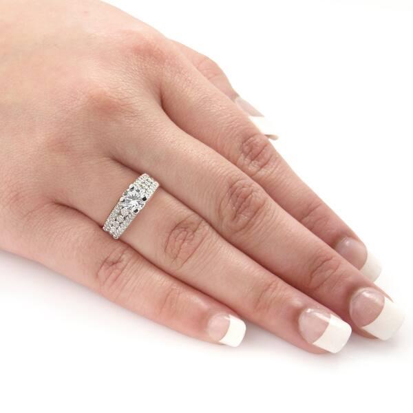 Shop Auriya Modern 1 1/2ct TDW Round Diamond Engagement Ring