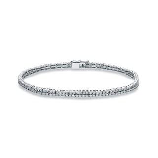 Auriya 14k White Gold 2ct TDW Round Cut Diamond Tennis Bracelet