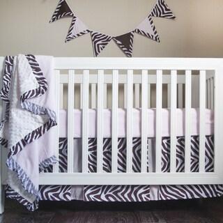 Pam Grace Creations Simply Zebra 4-Piece Crib Bedding Set