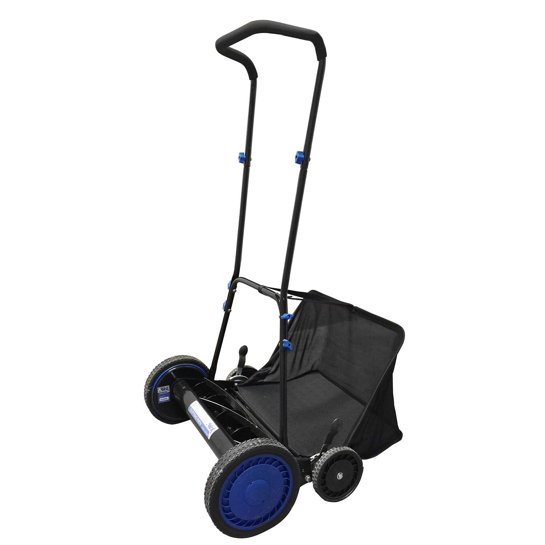 20-inch Hand Push Reel Lawn Mower w/ Grass Catcher Manual Trimmer Mulching  Mower