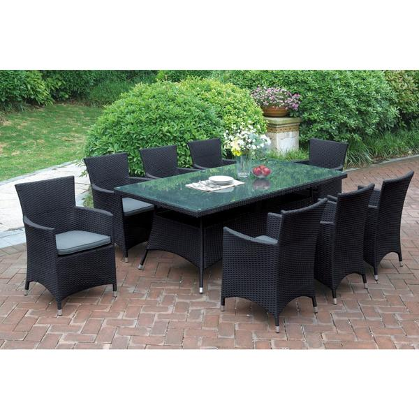 Bolinas Reserve Dark Brown/ Tan 9 Piece Patio Set