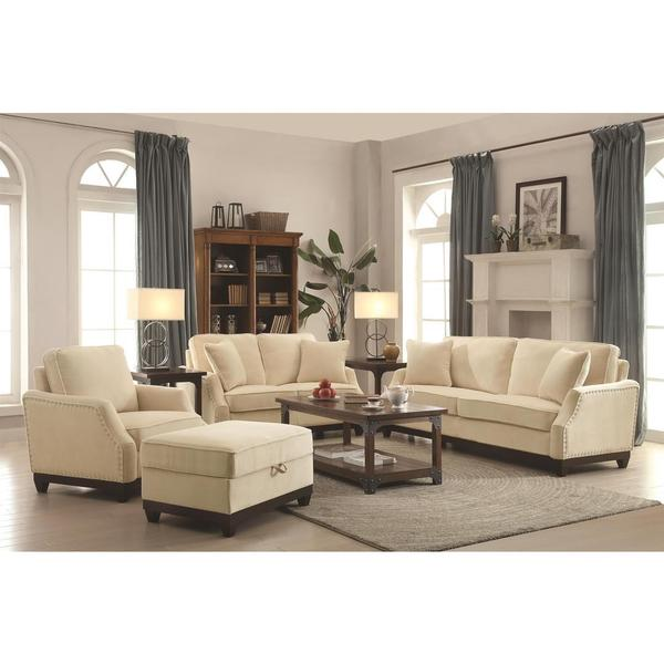 Azaiah Living Charcoal Beige Room Set Free Shipping Today 17566238