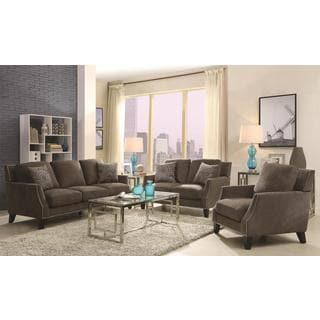Hansen 3 Piece Grey Living Room Set Free Shipping Today 17566239