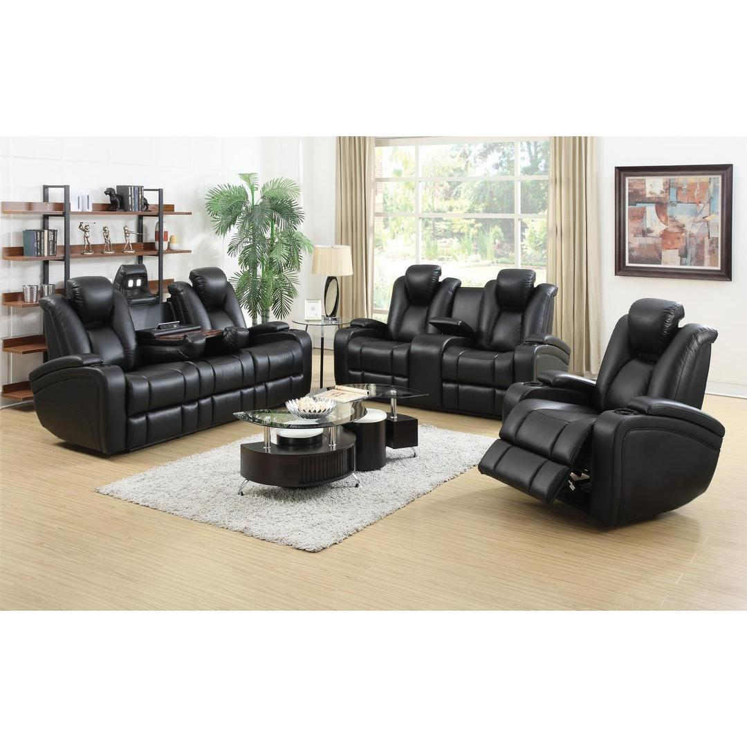 DeNatali 3-piece Black Living Room Set