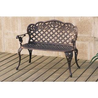 Bolinas Weave Bronze Bench