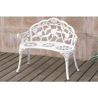Copper Grove Toulouse Rose White, Bronze Bench