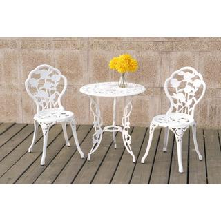 Bolinas Rose White, Bronze Bistro Set