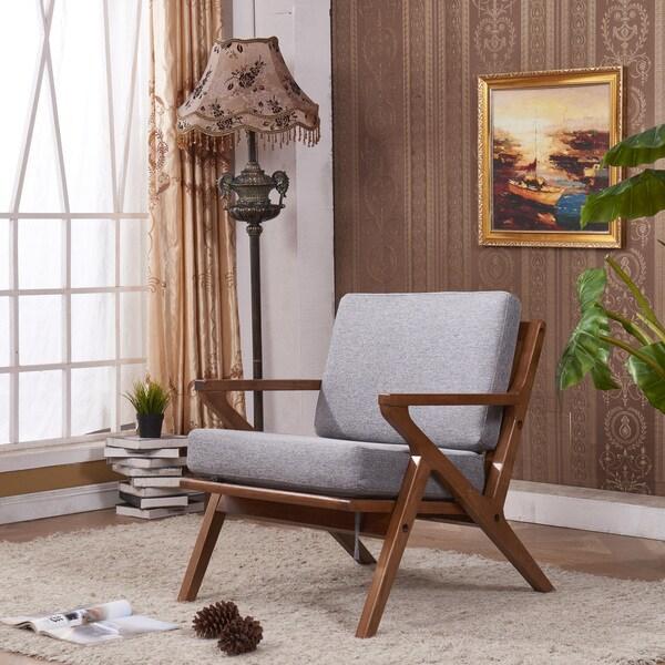 Shop Elegant Signature Designs Solid Ash Club Arm Chair