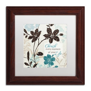Lisa Audit 'Botanical Touch Quote I' White Matte, Wood Framed Wall Art