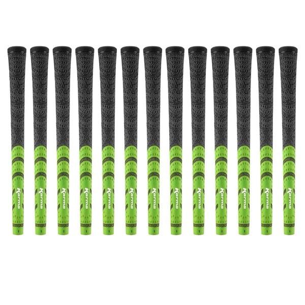 Karma Standard Black/ Green Half Cord 13-piece Golf Grip Bundle