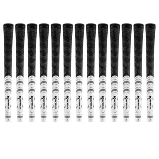 Karma Black/ White Half Cord Oversize (+1/16-inch) 13-piece Golf Grip Bundle
