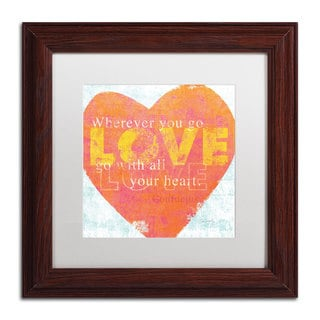 Sue Schlabach 'Letterpress Love' White Matte, Wood Framed Wall Art