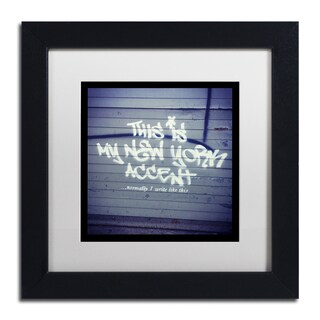 Banksy 'My New York Min' White Matte, Black Framed Wall Art