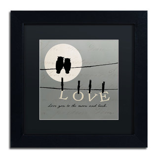 Pela Studio 'Moon Lovers I' Black Matte, Black Framed Wall Art