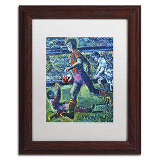 Lowell S.V. Devin 'World Cup Dream' White Matte, Wood Framed Wall Art