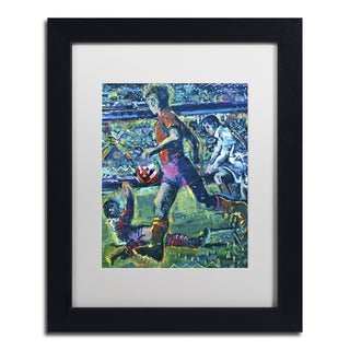 Lowell S.V. Devin 'World Cup Dream' White Matte, Black Framed Wall Art
