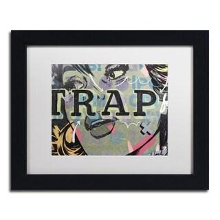 Dan Monteavaro 'Trap' White Matte, Black Framed Wall Art