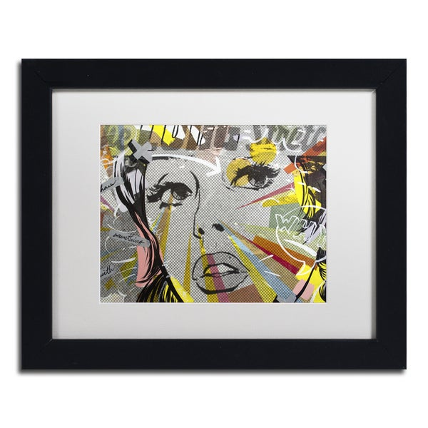 Dan Monteavaro 'The Long Stretch' White Matte, Black Framed Wall Art