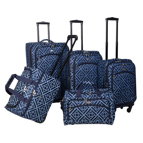 American Flyer Astor 5-piece Expandable Spinner Luggage Set
