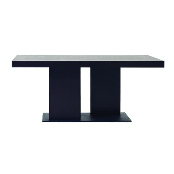Charmant Modrest Cobalt Modern Black Oak Dining Table