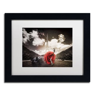 Erik Brede 'Tango in Paris' White Matte, Black Framed Wall Art