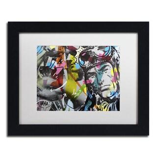 Dan Monteavaro 'Strongman' White Matte, Black Framed Wall Art
