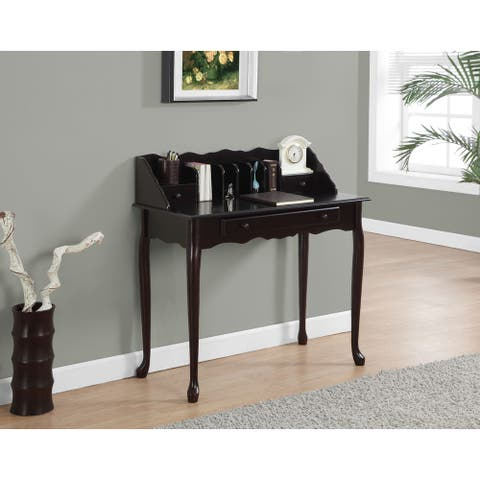 Dark Cherry Traditional Desk