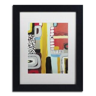 Sylvie Demers 'Chemins' White Matte, Black Framed Wall Art