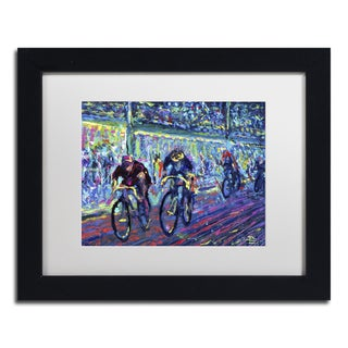 Lowell S.V. Devin 'Century Ride' White Matte, Black Framed Wall Art