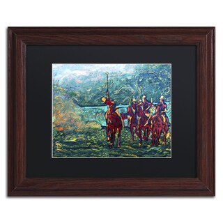 Lowell S.V. Devin 'Polo School Episode I' Black Matte, Wood Framed Wall Art