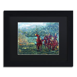 Lowell S.V. Devin 'Polo School Episode I' Black Matte, Black Framed Wall Art