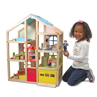 Melissa & Doug  Wooden Hi-Rise Dollhouse