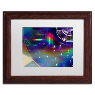 Beata Czyzowska Young 'Rainbow Logistics VI' White Matte, Wood Framed Wall Art