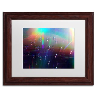 Beata Czyzowska Young 'Rainbow Logistics V' White Matte, Wood Framed Wall Art