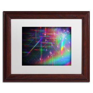 Beata Czyzowska Young 'Rainbow Logistics IV' White Matte, Wood Framed Wall Art