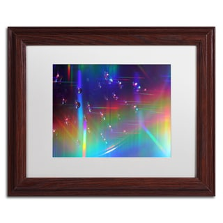 Beata Czyzowska Young 'Rainbow Logistics III' White Matte, Wood Framed Wall Art