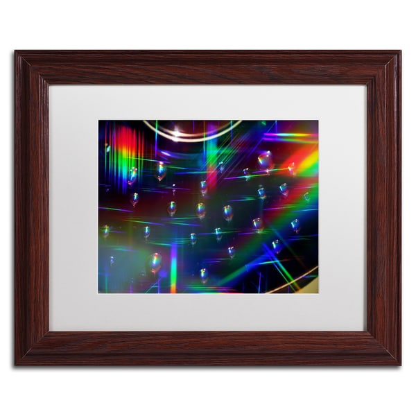 Beata Czyzowska Young 'Rainbow Logistics I' White Matte, Wood Framed Wall Art