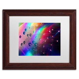 Beata Czyzowska Young 'Rainbow Logistics II' White Matte, Wood Framed Wall Art