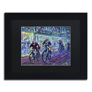 Lowell S.V. Devin 'Century Ride' Black Matte, Black Framed Wall Art