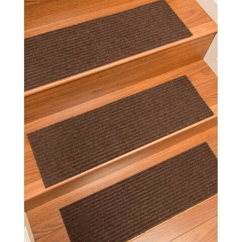 "Halton Carpet Chocolate Stair Treads (Set of 13) - 9""x 29"""