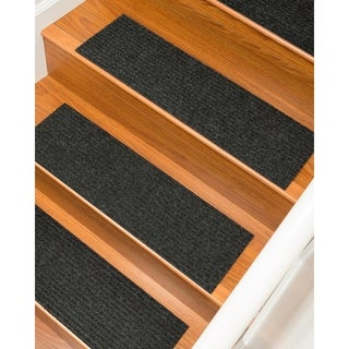 "Halton Carpet Charcoal Stair Treads (9"" x 29"") (Set of 13)"