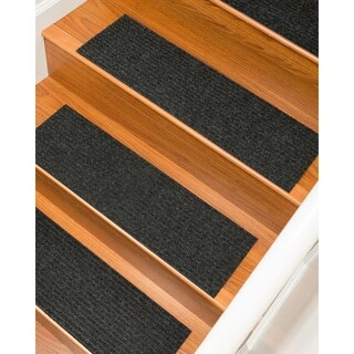 "Halton Carpet Charcoal Stair Treads (Set of 13) - 9""x 29"""